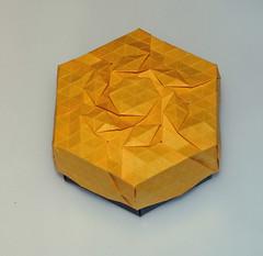 Rhombus swirltessellation box (mganans) Tags: origami tessellation caja box