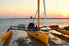 Sundown on the Beach (chadbach) Tags: 2017 texas 200 sail boat sailing sailboat water coast bay hobie tandem island beachmeyer beach icw intercoastal waterway