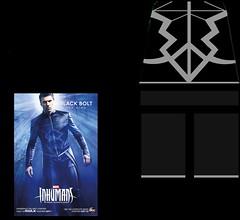 Black Bolt (Marvel Inhumans) (Hearttseeker) Tags: lego decal