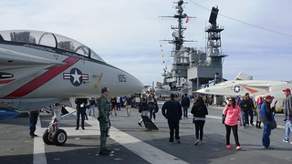 Flight Deck of the USS Midway in San Diego