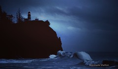 Predawn Tide (jeanmarie's photography) Tags: nikon nature ocean landscape capedisappointment washingtonstate lighthouse waves nighttime beach jeanmarieshelton