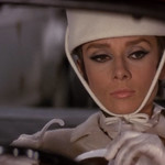 Audrey Hepburn, Driving Red Autobianchi Bianchina Special Cabriolet, Givenchy White Hat,