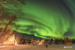 _DSC3629 (OliverCui) Tags: aurora yellowknife northwest canada northern light night winter snow