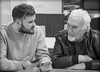 Grandad and Grandson. . . (CWhatPhotos) Tags: photographs photograph pics pictures pic picture image images foto fotos photography cwhatphotos that have which with contain mk digital camera lens micro four thirds em5 ii me man male portrait sigma 60mm art mft two son grandson dad granda family black white mono monochrome together chatting chat talking talk grandad