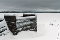 Frozen Crates Covered With Snow (k009034) Tags: 500px sky landscape frozen winter nature clouds scene snow fields countryside weather agriculture barn rural wooden box farming covered no people coldness crate finland tranquil scandinavia copy space teamcanon