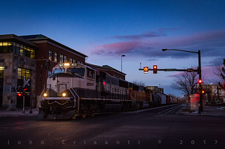 Dusk in Old Town Fort Collins