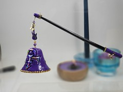 """Purple Prince Candle Snuffer (SomewhatOdd) Tags: mokumegane earrings mixedmedia kaleidoscope unique colorful necklace jewelry pendant """"handmade"""" polymerclay art sculpey fimo beads oneofakind bright cheerful glassbeads clay micashift magneticclasp cord original swarovskicrystals filigreebeads pearls gift beautiful cabochons bracelet wirewrapped coloredwire kaleidoscopecane polyclay glass originaldesigns hearts flowers tutorial ovensafemolds artistic silver gold handbraidedcord veldenaladson pardo premo pin brooch """"seed beads"""" polymer """"metal findings"""" candles candle candlesnuffer snuffer tealight wick prince princerogersnelson princesymbol purplerain purple"""