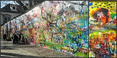 "the ""John Lennon Peace Wall"" - Mala Strana, Prague          ♥ The symbol of love and peace ♥ (jjamv) Tags: jjamv julesvtravel prague praha johnlennonwall malastrana thebeatles czechrepublic johnlennonpeacewall beatlessonglyrics peacesign peacelove graffiti lyrics totalitarianera monumenttofreedomofexpression velvetrevolution memorial communism monument freedomofexpression yellowsubmarine streetart thecryingwall knightsofmalta praga prag 布拉格 прага プラハ براغ 프라하 bohemia cityscape street europe travel tourism wall building unesco čeština českárepublika lgh960 lgv10 bridge built structure city czech outdoors photography traveldestinations landmark historic worldheritage panorama"