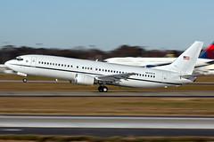 N640CS -  Boeing 737-4Y0 - JPATS - KATL - Dec 2017 (peachair) Tags: n640cs boeing 7374y0 jpats katl dec 2017 cn 26078 2431 justice prisoner alien transportation system