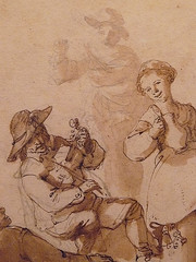 OSTADE Isaac - Fête Paysanne (drawing, dessin, disegno-Custodia) - Detail -zb (L'art au présent) Tags: art painter peintre details détail détails detalles painting paintings peintures peinture17e 17thcenturypaintings peinturehollandaise dutchpaintings dutchpainters peintreshollandais tableaux paris fondation foundation france holland hollande animal animaux animals figures personnes man men hommes femme women woman female jeunefemme youngwoman boy littleboy garçon enfant kid kids child children peasantfair party feast paysan dog pet chien isaack