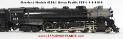 Overland Models 4534.1 Union Pacific FEF-1 818 (Twin Ports Rail History) Tags: usa jeff lemke trains inc brass model train service pro professional custom painting repairs weathering railway railroad paint ho scale omi overland models union steam locomotive factory painted pacific up