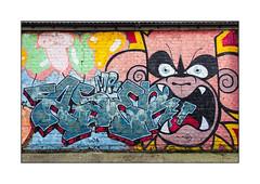 Street Art (Mighty Mo), North London, England. (Joseph O'Malley64) Tags: mightymo mightymonkey atg bc burningcandy burningcandycrew streetartist streetart urbanart publicart freeart graffiti northlondon london england uk britain british greatbritain art artist artistry artwork mural muralist wallmural wall walls brickwork bricksmortar cement pointing roofingtiles guttering concrete wetweather councilestate urban urbanlandscape aerosol cans spray paint fujix x100t accuracyprecision