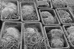 Nets (G Reeves) Tags: nikon nikond810 garyreeves outside urban landscapes urbanlandscapes town city metropolis brighton sussex eastsussex southcoast bw blackwhite blackandwhite monochrome closeups fishingboat fishing work macromonday marina rope