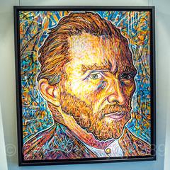 """Van Gogh"" Painting by Nowart, Galerie Élysées Bartoux, 104 Central Park South, New York City (jag9889) Tags: 2017 20171201 art artwork centralparksouth gallery graffiti indoor manhattan midtown ny nyc newyork newyorkcity painting portrait store streetart tagging usa unitedstates unitedstatesofamerica vangogh vincentvangogh jag9889"