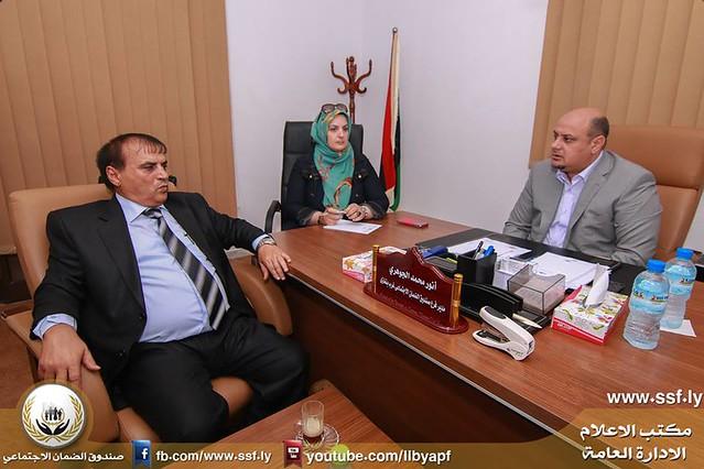 فريق الإعلام بالإدارة العامة يزور فرع غرب بنغازي 16-8-2016