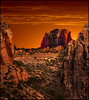 The South West (Color Blind 56) Tags: south west evening elements13 rock red rugged sky utah sunset sunrise overlook landscape nikon hdr horizon d7100 dramatic desolate dusk cb1956 nationalpark mountains cliffs clouds western