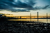 Forth Road Bridge (Thomas Brannan) Tags: forth road bridge sunset golden hour