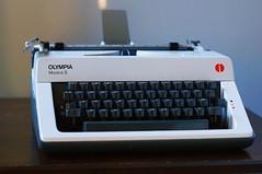 Olympia Monica S Typewriter (rolandmks7) Tags: sonynex5n typewriter olympia white monicas