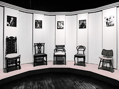 Years of Chairs (Steve Taylor (Photography)) Tags: art digital design graphic chair picture portrait black pink contrast stark white wooden uk gb england greatbritain unitedkingdom london texture shadow geffryemuseum furniture