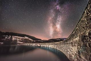 Milky Way over  Garreg Ddu Dam