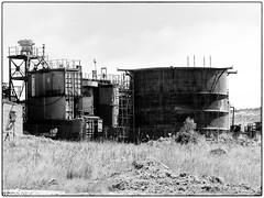 Mining Operations (Finepixtrix) Tags: plant gold mining production industrial mono bw blackandwhite krugersdorp mogalecity fujifilm finepix s5600 mine bridgecamera