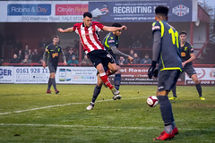 Altrincham FC vs Matlock Town - December 2017-130 (MichaelRipleyPhotography) Tags: altrincham altrinchamfc altrinchamfootballclub alty ball coyr celebrate celebration community cup fans fog football footy goal header jdavidsonstadium kick league matlocktown mosslane npl nonleague northermpremierleague pass pitch referee robins score semiprofessional shot soccer stadium supporters tackle team win