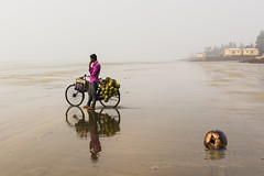 Waste (soumen19xx) Tags: asia beach cycle vendor coconut photos photography photoshop people sand travel tone waste water reflection landscapes land sea pink soumenray google flickr yellow dwellings kolkata india mandarmani