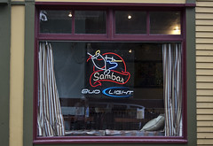 Sambar - Newport, RI (EssGee Photography™) Tags: nikon1855vr nikond40 windowpane window travel tourist slr signs signage sign ri rhodeisland nikon newport newengland digital