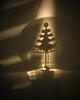 Shadow Christmas (Sea Moon) Tags: caustics bulb neon shadows metal tree christmas sunlight yule wall plaster texture