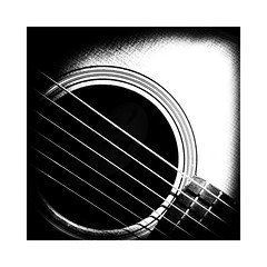 Hipstamatic (GR167) Tags: minimalism simplicity monochrome taylormini blackandwhite bw noedit sooc iphoneart iphone guitar hipstamatic