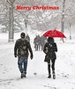 Merry Christmas and Happy New Year 2017 (grab a shot) Tags: canon eos 7dmarkii outdoors christmascard merrychristmas happynewyear snow 2017 usa newyork centralpark homewardbound nyc ny lamp tree people man woman umbrella red winter