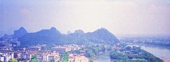 Halina Panorama - Jessops 200 (16) (meniscuslens) Tags: guilin 1995 city mountain river sky halina panorama vintage film camera jessops