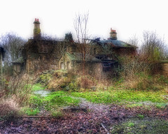 Derelict Edwardian House (Laineyb93) Tags: heritage edwardian fouroaks abandoned fallingdown oldhouse broken orton rundown building derelict pattern texture chimney lancashire trees green windows roof slates history