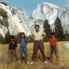 1967, Summer camping in Yosemite (maralina!) Tags: papken father papa dad père siblings brothers sister frère soeur garo kevo maral summer camping yosemite halfdome childhood enfance yosemitevalley vacation wilderness 1960s 1967 vintage oldphoto