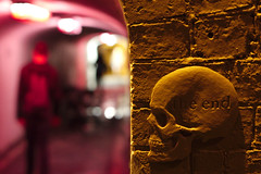 This is the End... (Fabien Gotti) Tags: end skull bokeh red wall street pentax k3 night lights