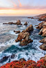 Big Sur at Sundown (Rod Heywood) Tags: bigsur garrapatastatepark sunset seascape seastacks seacliffs cliff bluff montereycounty scenic iceplant surf coastline rocky monterey california