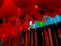 Overwhelmed by red (losy) Tags: red balls kugeln rot art losyphotography density