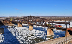 "Southbound Local in Kansas City, MO (""Righteous"" Grant G.) Tags: bnsf atsf santa fe railway railroad locomotive train trains south southbound local transfer freight emd ge power kansas city missouri river"