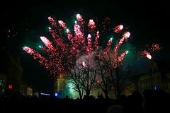 Novoroční ohňostroj v Kostelci nad Orlicí.../ New Year's fireworks in Kostelec nad Orlici ... (ZdenHer) Tags: firework ohňostroj tree