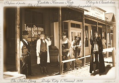 THE FLICKR GANG (ADRIANO ART FOR PASSION) Tags: west dodgecity kansas vintage gang flickrgang avatar fotomontaggio marco carlotta stefano selvy adriano stampaallalbume fotodigruppo saloon longbranchsaloon photoshopcreativo