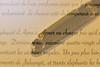 Qui veut réécrire l'histoire du Taj Mahal ? Who wants to rewrite the Taj Mahal story ? (Make our PLANET great again !) Tags: stylo pen texte text écrire writing lire reading macromondays doubleexposure nikon macro