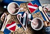 minty hot chocolate and love (auntneecey) Tags: mintyhotchocolateandlove cocoa overhead tabletop hearts 365the2017edition 3652017 day347365 13dec17