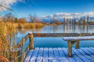 Avant l'hiver sur le lac....