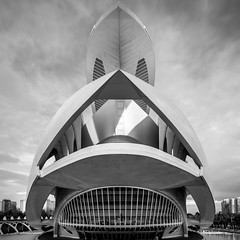 Open Wide (McQuaide Photography) Tags: valencia spain europe sony a7rii ilce7rm2 alpha mirrorless 1635mm sonyzeiss zeiss variotessar fullframe mcquaidephotography lightroom adobe photoshop tripod manfrotto city urban architecture outdoor outside building longexposure morning nd neutraldensity bwfilters ndfilter cityofartsandsciences ciutatdelesartsilesciències ciudaddelasartesylasciencias modern modernarchitecture architecturalcomplex 12treasuresofspain santiagocalatrava attraction tourism travel touristdestination famousplace icon iconic futuristic future science scientific operahouse entertainment opera 2005 queensofíapalaceofthearts performingarts dragados necso palaudelesartsreinasofia wideangle blackandwhite bw monochrome mono blackwhite