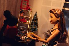Handmade gifts. Polymer clay (kinmegami) Tags: barbie rement diorama roombox polymerclay miniature handmade christmastree christmas momoyathejapanesenostalgicmeals cuteourhome