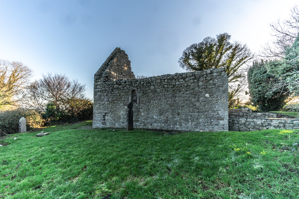 ANCIENT CHURCH AND GRAVEYARD AT TULLY [LAUGHANSTOWN LANE NEAR THE LUAS TRAM STOP]-134580