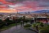Sunset Florence (MaOrI1563) Tags: maori1563 firenze florence piazzalemichelangelo panorama duomo santamariadelfiore santacroce palazzovecchio pontevecchio cielo sunset