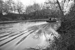 Crockford Bridge Farm (James Mans) Tags: nikon d5500 blackandwhite bw boat river water ripples winter crockford bridge farm