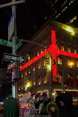 Christmas in NYC (jomak14) Tags: 2017 christmasinnyc iphone6plus fifthave manhattan christmaslights