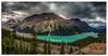 Lake Peyto (.Wadders) Tags: lakepeyto canada canadianrockies banffnationalpark lake water sky mountains clouds d600 nikonfxshowcase ngc nikkor1635mmf4